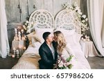 bride and groom  the bride and... | Shutterstock . vector #657986206