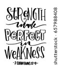 strength made perfect in... | Shutterstock .eps vector #657988408