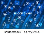 blockchain network concept  ...   Shutterstock .eps vector #657993916
