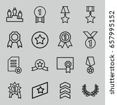 award icons set. set of 16...   Shutterstock .eps vector #657995152