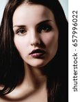 beauty young brunette woman... | Shutterstock . vector #657996022