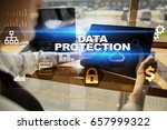 data protection  cyber security ... | Shutterstock . vector #657999322