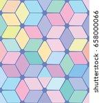 vector color pattern. geometric ... | Shutterstock .eps vector #658000066