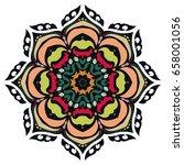 mandala flower decoration ...   Shutterstock .eps vector #658001056