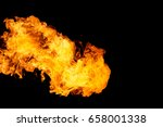 fire flame isolated on black... | Shutterstock . vector #658001338