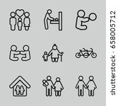 mother icons set. set of 9... | Shutterstock .eps vector #658005712