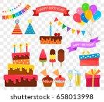 celebration happy birthday... | Shutterstock .eps vector #658013998