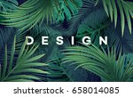 bright tropical background with ... | Shutterstock .eps vector #658014085