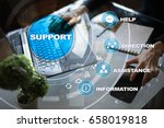 technical support. customer... | Shutterstock . vector #658019818