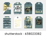 8 happy father's day tags in... | Shutterstock .eps vector #658023382