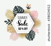 tropical leaves design  vector... | Shutterstock .eps vector #658024012