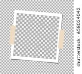 photo frame with sticky tape on ... | Shutterstock .eps vector #658024042