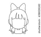 manga anime girl chibi... | Shutterstock .eps vector #658028182