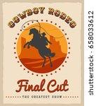 cowboy rodeo poster vector... | Shutterstock .eps vector #658033612
