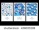 set of creative business card... | Shutterstock .eps vector #658035208