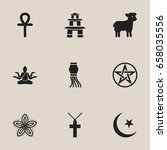 set of 9 editable religion...