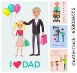 i love dad vector poster of... | Shutterstock .eps vector #658036552