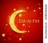 vector eid al firt background... | Shutterstock .eps vector #658036666