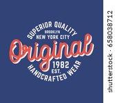 original logo t shirt design.... | Shutterstock .eps vector #658038712