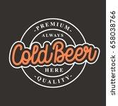 cold beer logo vector... | Shutterstock .eps vector #658038766