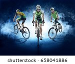 sport backgrounds. cyclist.... | Shutterstock . vector #658041886