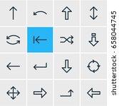 vector illustration of 16 sign... | Shutterstock .eps vector #658044745
