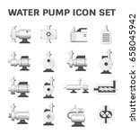 vector icon of water pump...   Shutterstock .eps vector #658045942