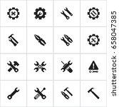 set of 16 editable tool icons....