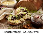 Sandwiches With Rustic  Bread...