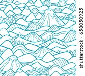 landscape pattern. vector... | Shutterstock .eps vector #658050925