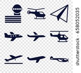 aircraft icons set. set of 9... | Shutterstock .eps vector #658052035
