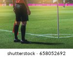 lineman assistant referee at... | Shutterstock . vector #658052692