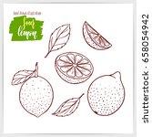 vector illustration of hand... | Shutterstock .eps vector #658054942