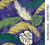 seamless pattern with... | Shutterstock .eps vector #658057582