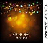 eid mubarak background.   Shutterstock .eps vector #658072618
