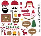 lumberjack vector design... | Shutterstock .eps vector #658072816