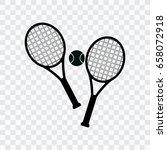 tennis rocket icon on a... | Shutterstock .eps vector #658072918
