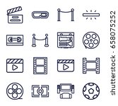 cinema icons set. set of 16... | Shutterstock .eps vector #658075252