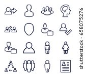 profile icons set. set of 16... | Shutterstock .eps vector #658075276