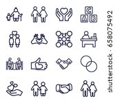 together icons set. set of 16... | Shutterstock .eps vector #658075492