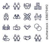 together icons set. set of 16... | Shutterstock .eps vector #658075492