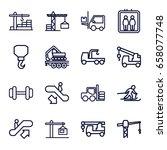 lift icons set. set of 16 lift...   Shutterstock .eps vector #658077748