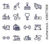 lift icons set. set of 16 lift...   Shutterstock .eps vector #658077808