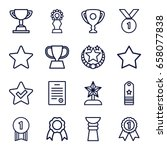 best icons set. set of 16 best... | Shutterstock .eps vector #658077838