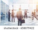 business people near office...   Shutterstock . vector #658079422