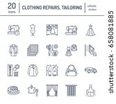 clothing repair  alterations... | Shutterstock .eps vector #658081885