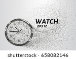 watch from particles. watch...   Shutterstock .eps vector #658082146