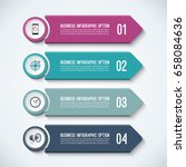 arrow infographic options... | Shutterstock .eps vector #658084636