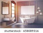 interior of a modern bathroom... | Shutterstock . vector #658089316