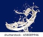 isolated splash of milk. 3d... | Shutterstock . vector #658089946